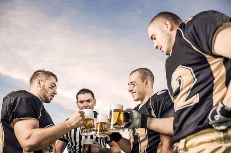 prendre une bière après le sport