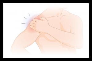 illustration de la douleur à l'épaule