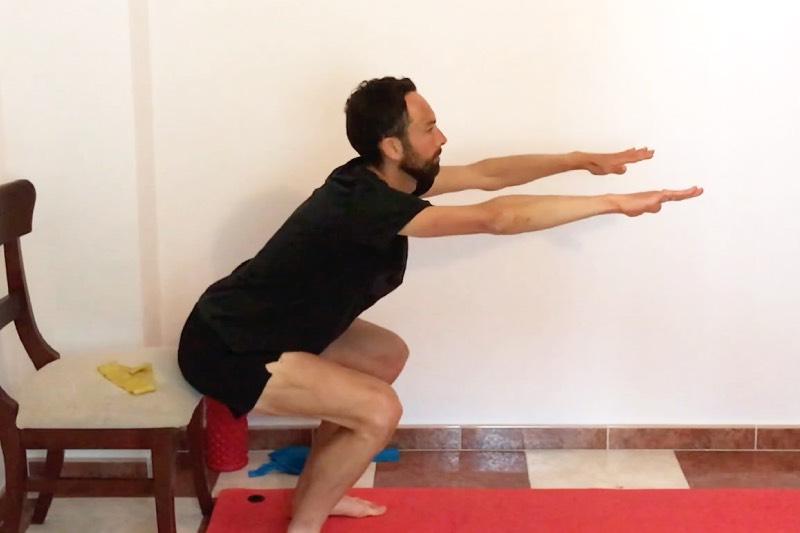 Exercice du squat complet