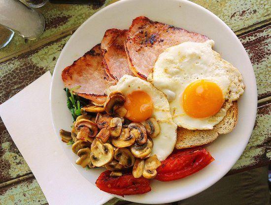recette petit déjeuner salé oeuf bacon