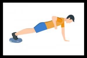 Illustration gainage sportif