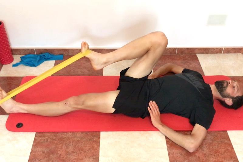 Exercice psoas isométrique